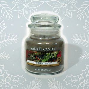 Yankee Candle Holiday Sage small jar candle